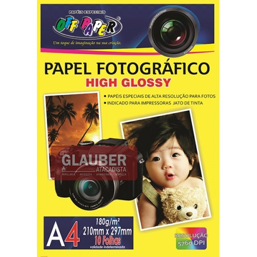 PAPEL FOTOGRAFICO A4 180 G  PT/50